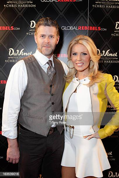 Slade Smiley and Gretchen Rossi attend the Grand Opening Of DaVinci Of California Hosted by The Bachelor's Chris Harrison on March 11 2013 in Los...