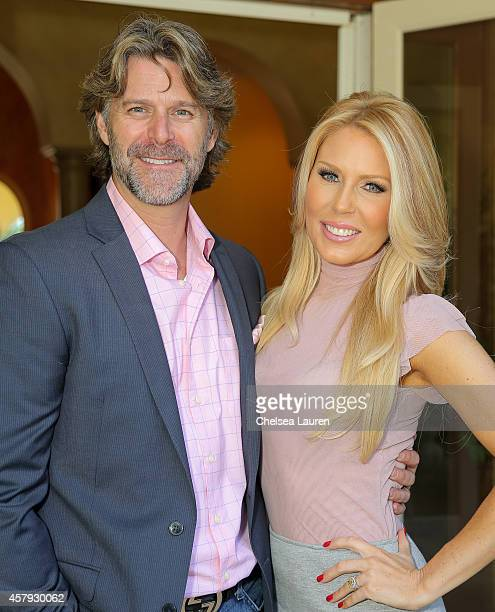 Slade Smiley and Gretchen Rossi attend The How 2 Girl think pink ladies luncheon on October 26 2014 at the Sixx Residence in Westlake Village...
