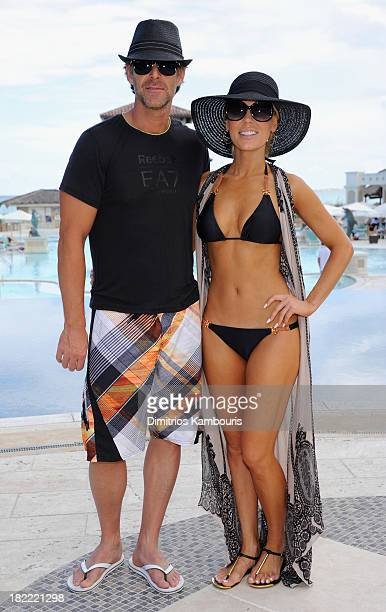 Slade Smiley and Gretchen Rossi attend the Island Routes Caribbean Adventures during Day Two of the Sandals Emerald Bay Celebrity Getaway And Golf...