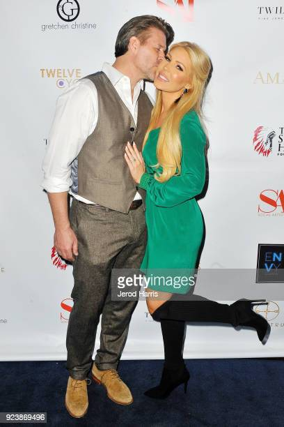 Slade Smiley and Gretchen Rossi attend the Women's Power Brunch at EnVy Lounge on February 24 2018 in Newport Beach California