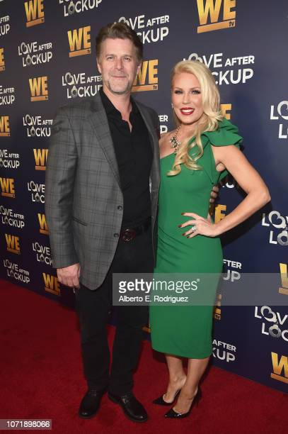 Slade Smiley and Gretchen Rossi attend WE tv celebrates the return of Love After Lockup with panel Real Love Relationship Reality TV's Past Present...