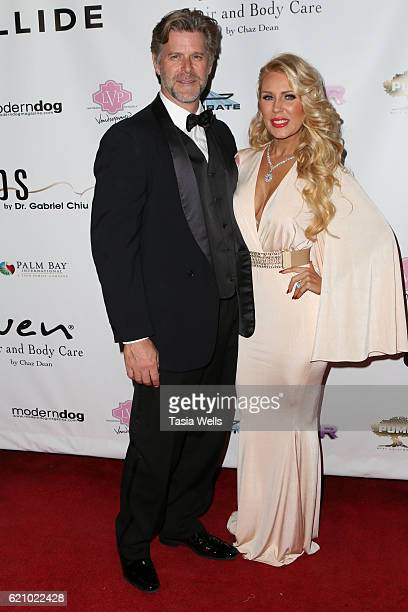Slade Smiley and Gretchen Rossi attends Vanderpump Dogs Foundation Gala at Taglyan Cultural Complex on November 3 2016 in Hollywood California