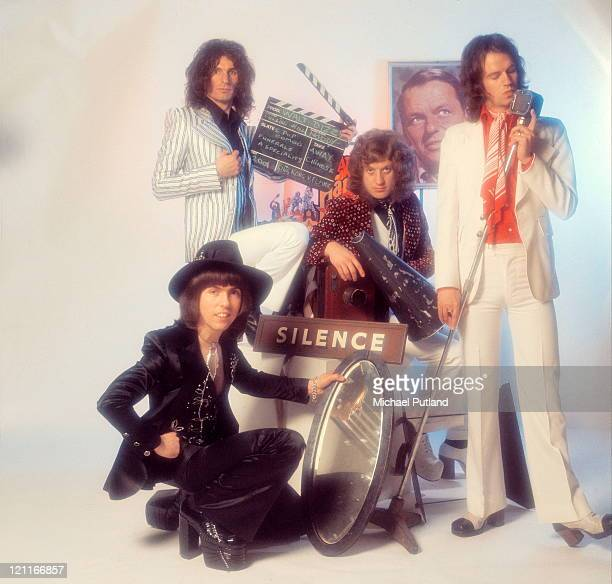 Slade studio group portrait London Dave Hill Don Powell Noddy Holder Jim Lea