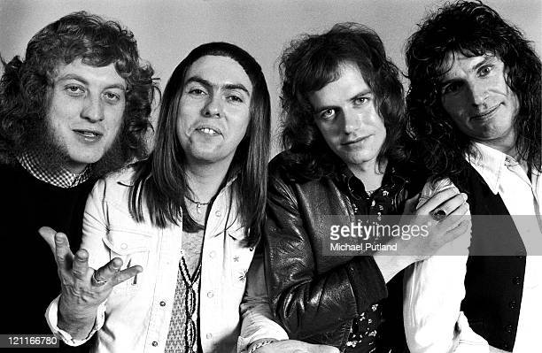 Slade studio group portrait London LR Noddy Holder Dave Hill Jim Lea Don Powell
