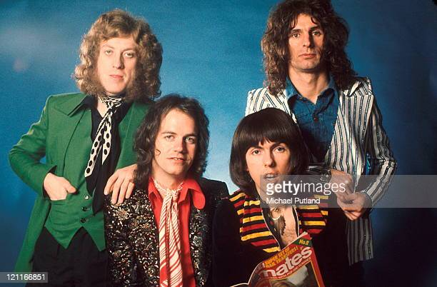 Slade studio group portrait London LR Noddy Holder Jim Lea Dave Hill Don Powell