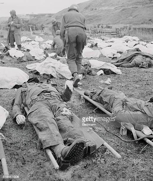 Slain US Soldiers Being Tagged on DDay Battlefield 1944 | Location NrOmaha Beach