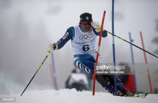 Slalom Maenner 210298 Alberto TOMBA/ITA
