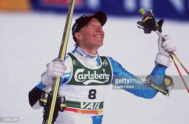 Slalom/Maenner, Vail/USA; Kalle PALANDER/FIN - Gold/Jubel -