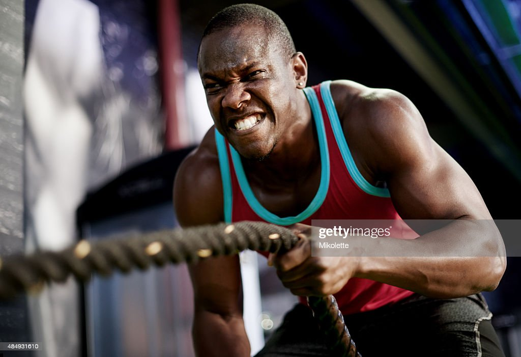 Slam, strengthen and sweat your way to a killer body : Stock Photo