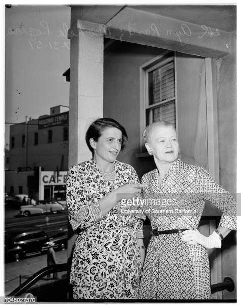 Slander suit July 31 1951 Ayn RandMrs Lela Rogers