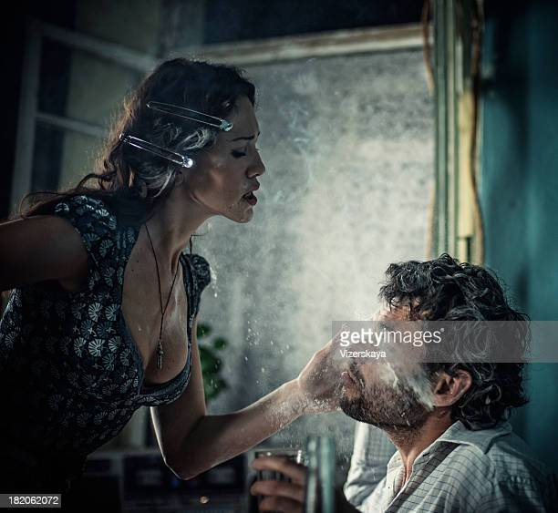 slap in the face - slapping stock pictures, royalty-free photos & images