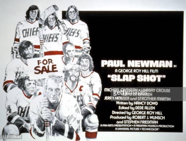 Slap Shot lobbycard Paul Newman David Hanson Steven Carlson Jeff Carlson lobby card poster art 1977