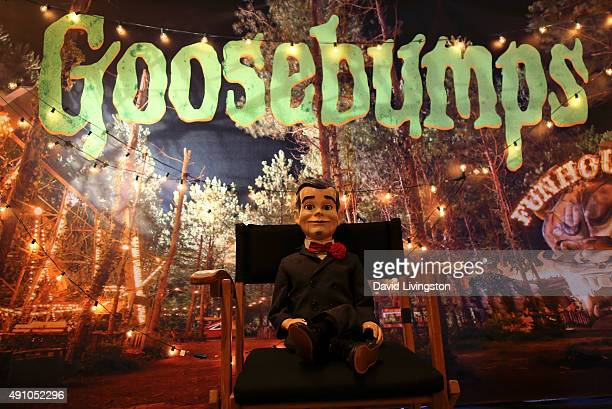Slappy the Dummy is seen at the photo call for Sony Pictures Entertainment's Goosebumps at The London West Hollywood on October 2 2015 in West...