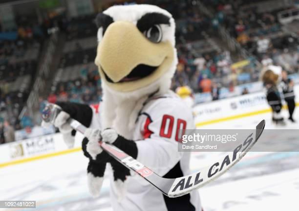 Slapshot of the Washington Capitals attends the 2019 NHL AllStar Mascot Showdown at the SAP Center on January 24 2019 in San Jose California