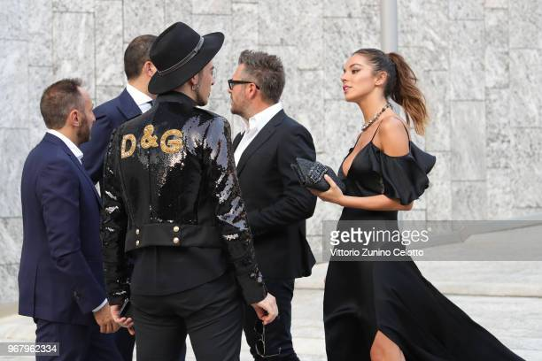 Slash and Alessia Reato arrive at Convivio 2018 on June 5 2018 in Milan Italy