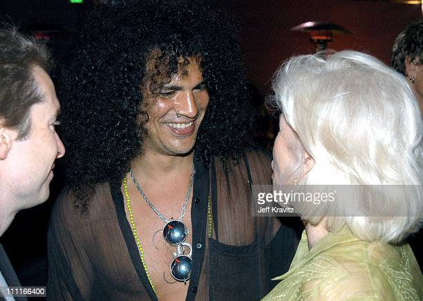 Slash and Margaret Blye during The Italian Job Premiere After Party at El Capitan Parking Lot in Hollywood California United States