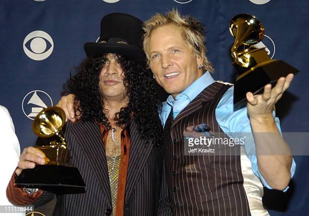 Slash and Matt Sorum of Velvet Revolver winner of Best Hard Rock Performance for 'Slither'