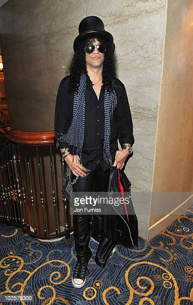 Slash attends the 35th Nordoff Robbins 02 Silver Clef Awards at London Hilton on July 2 2010 in London England
