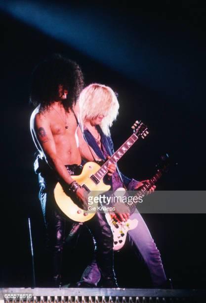 Slash Duff McKagan Guns N Roses Feyenoord Stadion Rotterdam Holland