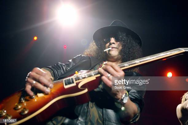 Slash of Guns Roses performs with Camp Freddy during the 2003 Blender Rock the Vote Awards afterparty at the Roseland Ballroom February 22 2003 in...