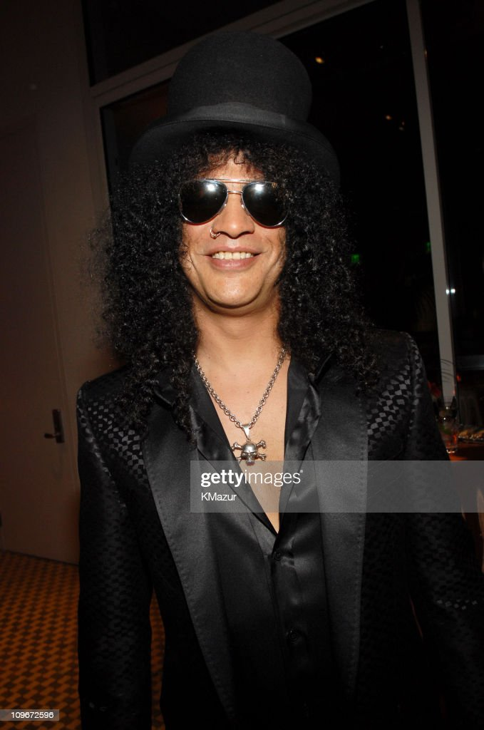 Slash of Velvet Revolver during 2007 Clive Davis Pre-GRAMMY Awards Party - Backstage at Beverly Hills Hilton in Beverly Hills, California, United States.