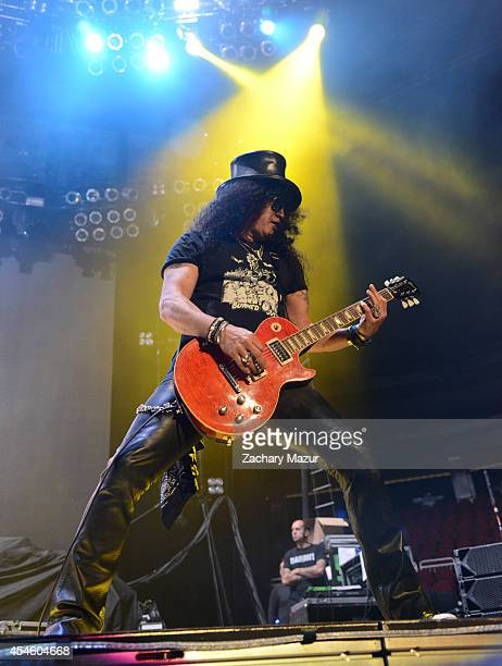Slash performs at Prudential Center on September 3, 2014 in Newark, New Jersey.