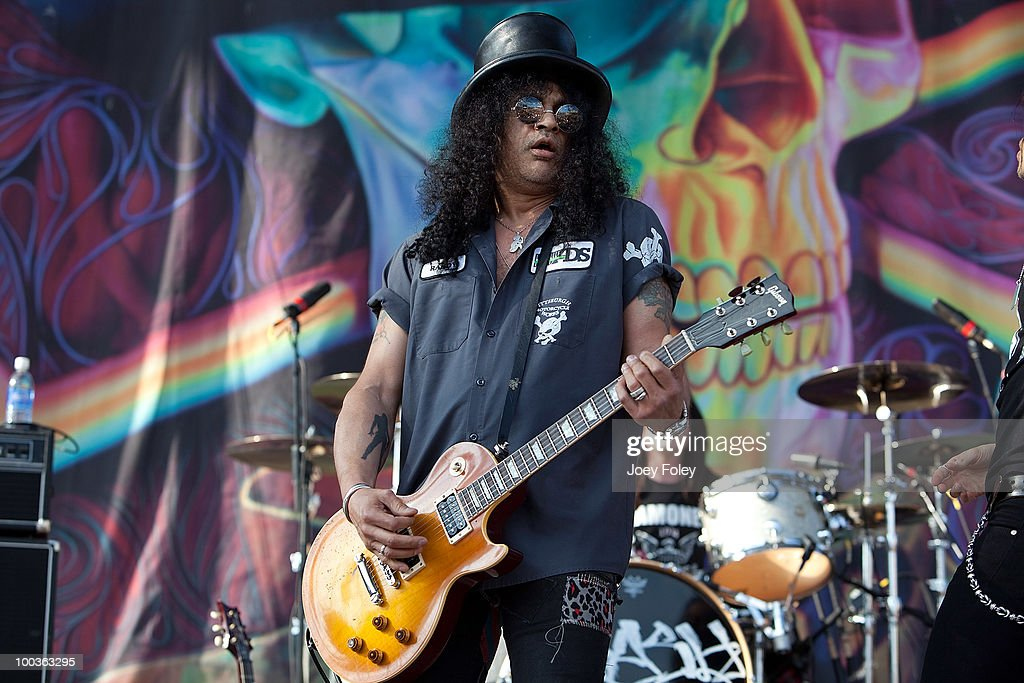 Slash performs during the 2010 Rock On The Range festival at Crew Stadium on May 23, 2010 in Columbus, Ohio.