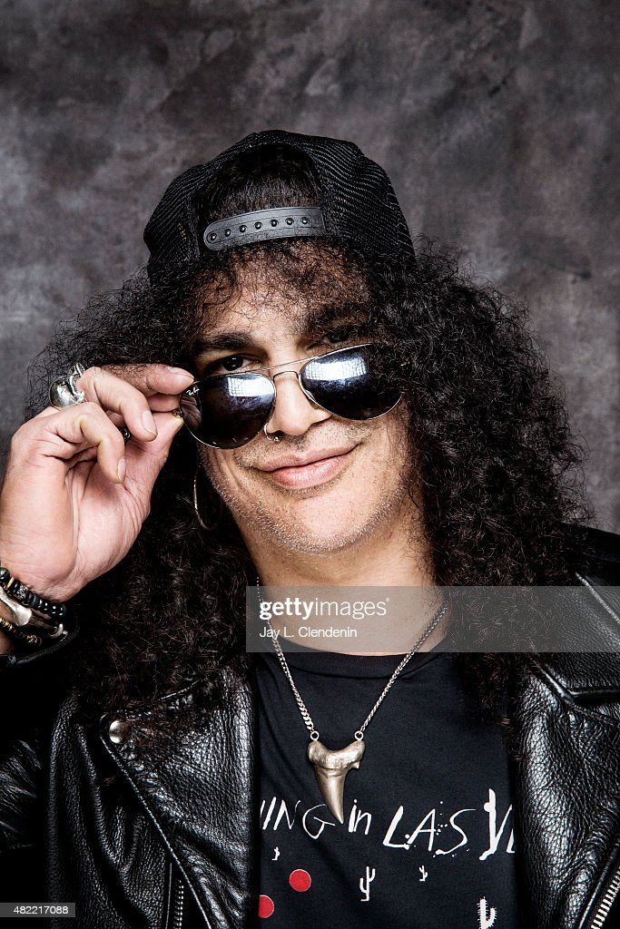 Slash poses for a portrait at Comic-Con International 2015 for Los Angeles Times on July 9, 2015 in San Diego, California. PUBLISHED IMAGE.