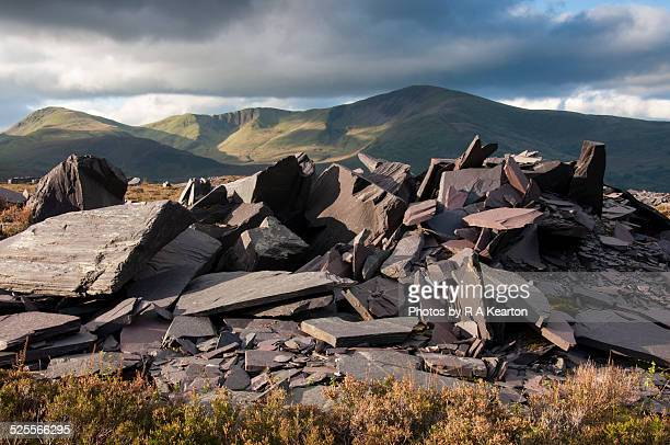 Slate and mountains in Snowdonia