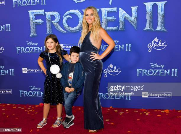 Slate Arroyave Cruz Arroyave and Teddi Mellencamp attends the Premiere of Disney's Frozen 2 at Dolby Theatre on November 07 2019 in Hollywood...