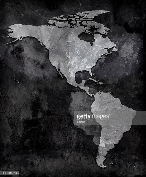 slate map of the americas - mexico map stock photos and pictures