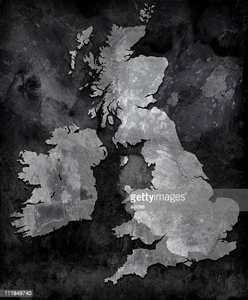 Slate map of the British Isles