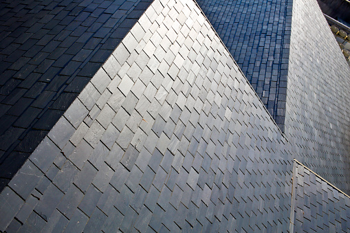 Slate roof high angle view - gettyimageskorea