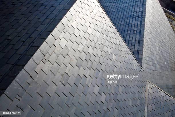 Slate roof high angle view
