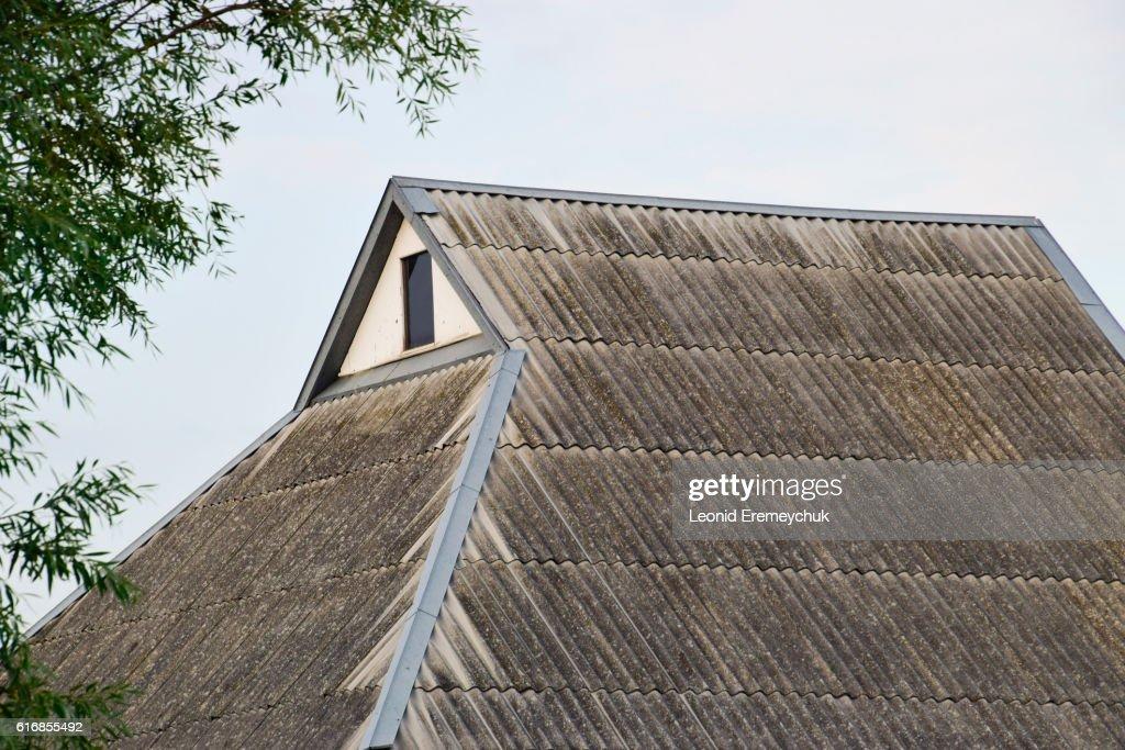 Slate roof houses : Stock Photo