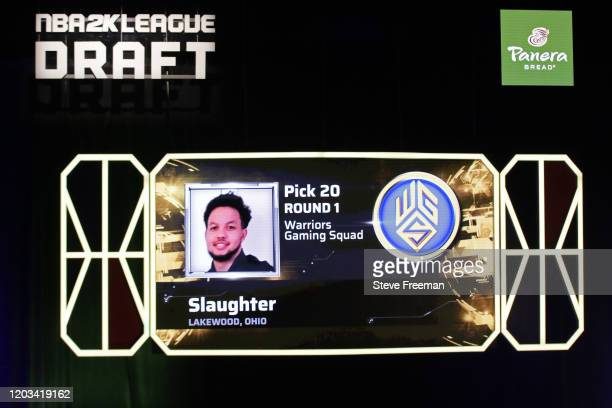 Slaughter gets picked during the NBA 2K League Draft on February 22 2020 at Terminal 5 in New York New York NOTE TO USER User expressly acknowledges...
