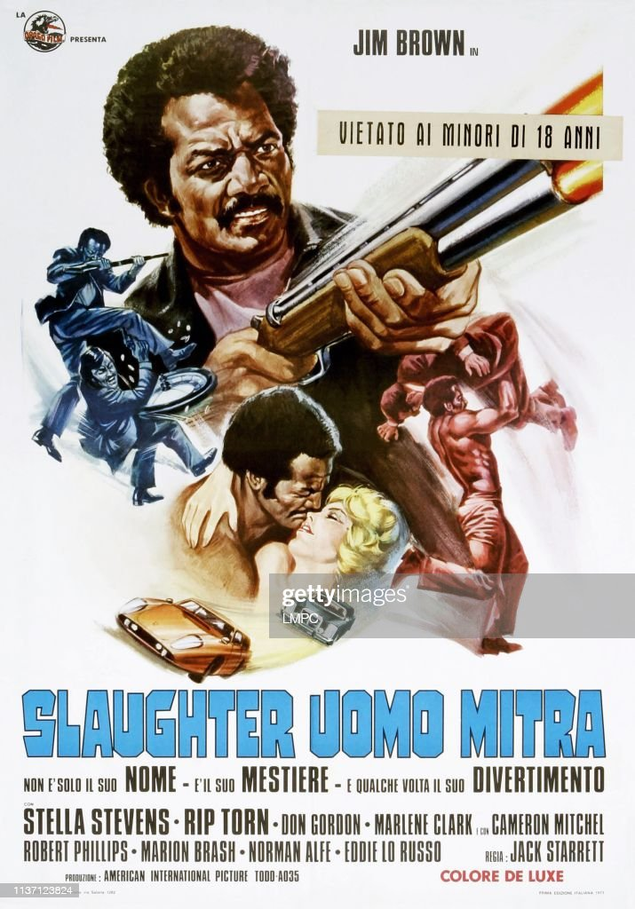 Jim Brown Slaughter >> Slaughter Poster Italian Poster Jim Brown Stella