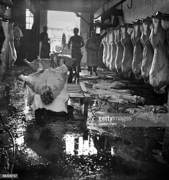 Slaughterhouse France about 1935