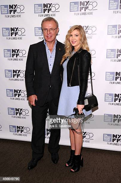 Slava Fetisov with daughter Anastasia Fetisova attend the 'Red Army' photo call during the 52nd New York Film Festival at Walter Reade Theater on...