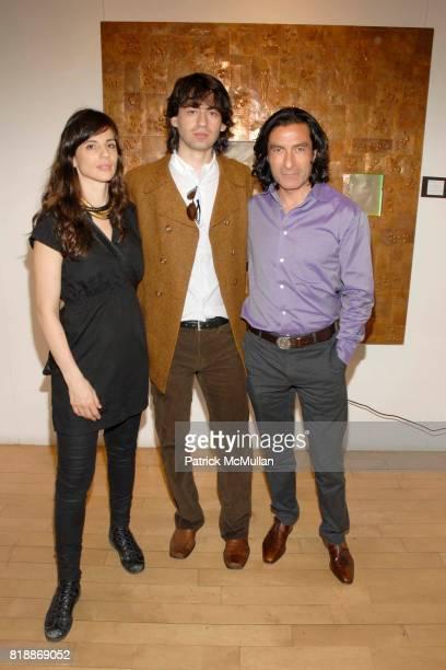 Slava Vukelic Mihailo Vekelic and Eric Allouche attend Opera Gallery Opening Voigt Monet and Vukelic at Opera Gallery on April 15 2010 in New York...
