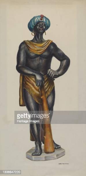 Slave Advertising Figure, circa 1941. Artist Chris Makrenos.