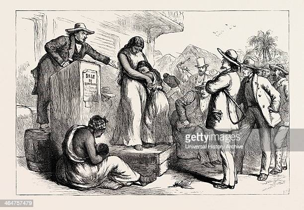 A Slave Auction United States Of America US USA 1870s Engraving