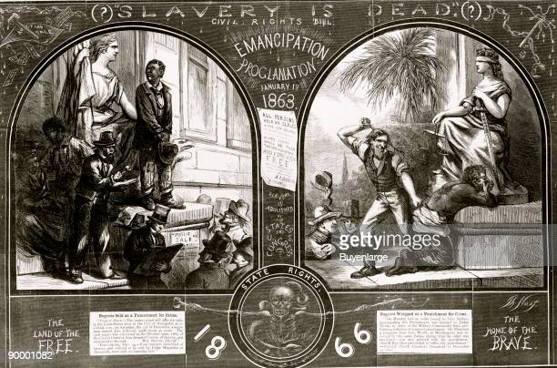 Slave being sold as punishment for crime, before Emancipation Proclamation