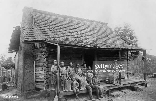 Slave Cabin Barbour County near Eufaula Alabama USA from Federal Writer's Project 'Born in Slavery Slave Narratives' United States Work Projects...