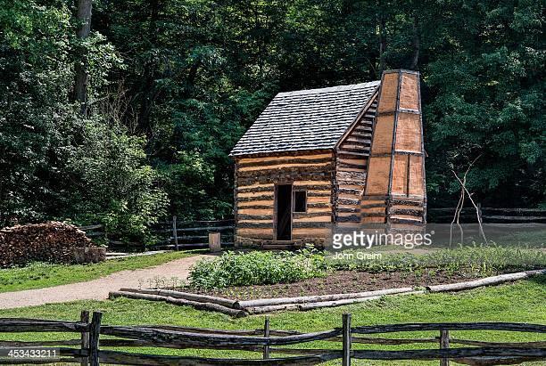 Slave cabin on the George Washington estate and farm