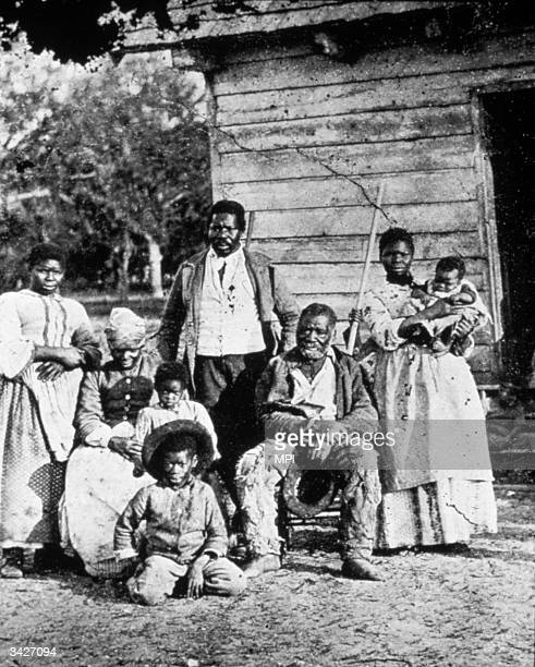 A slave family in South Carolina