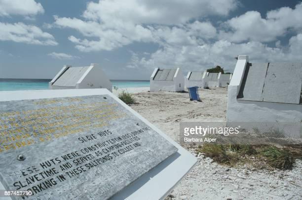 Slave huts, historic site in Bonaire, Netherlands Antilles, March 2000.