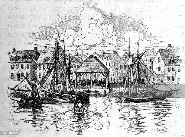 1730 A slave market in New York harbour