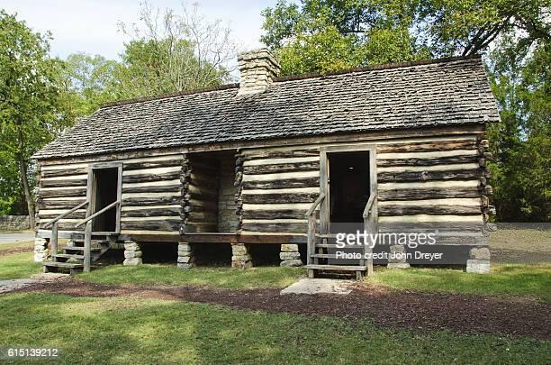 slave quarters belle meade plantation - slave quarters stock photos and pictures