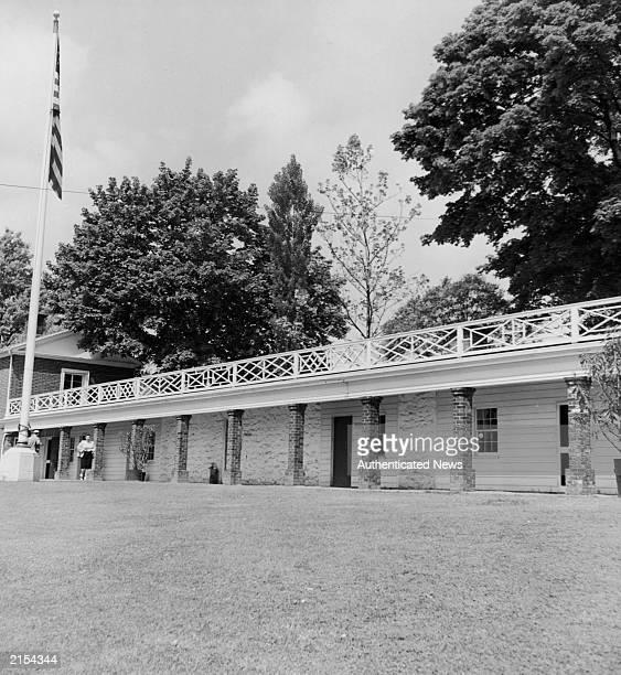 Slave quarters located in the home of United States president Thomas Jefferson Monticello Virginia circa 1960